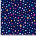 Estrelinhas Coloridas Com Pink Fundo Azul Ref.CO6331-2 Eva e Eva