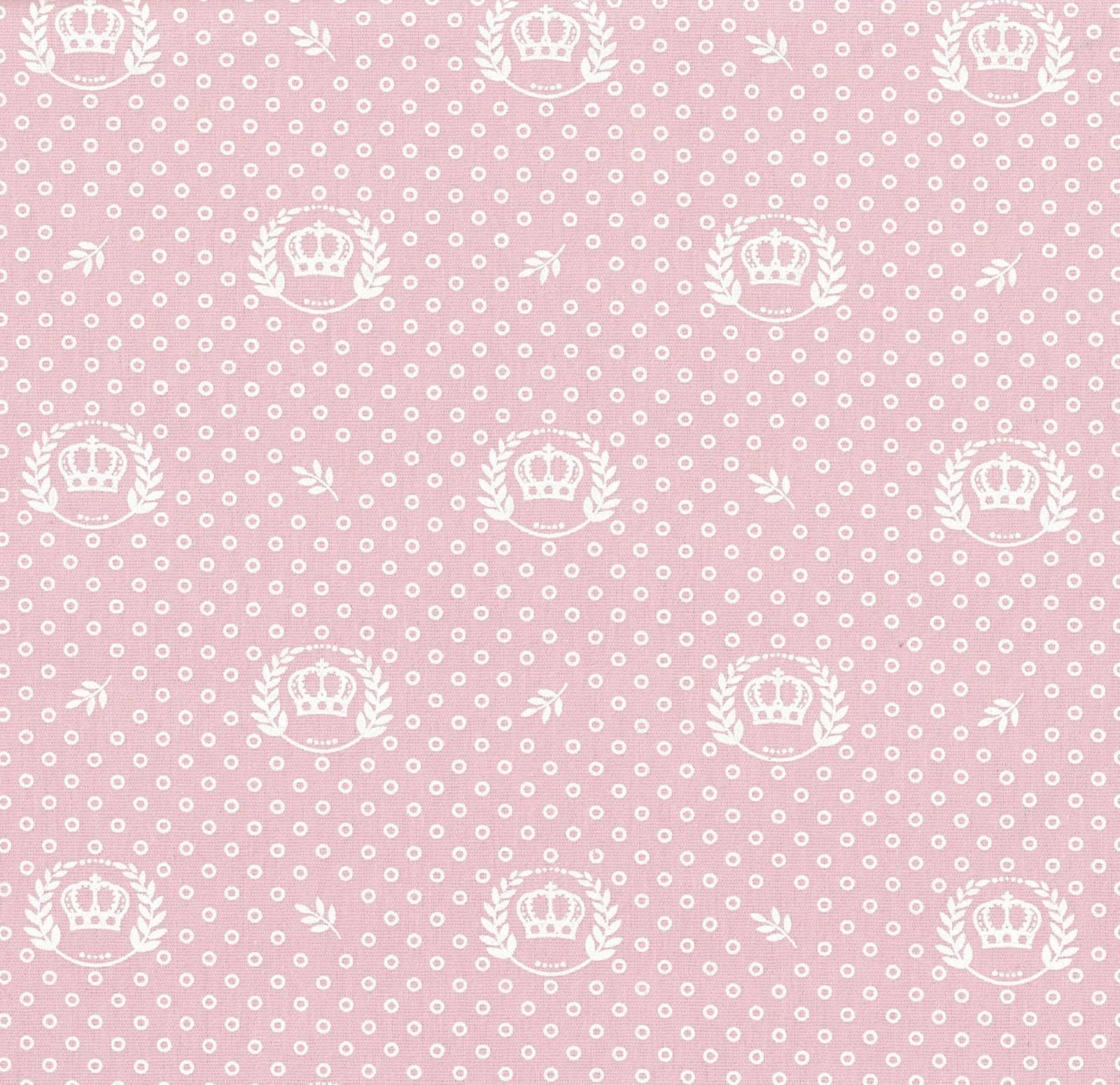 Coroas fundo rosa bebê Ref.1169 cor 81 Peripan - Armarinhos Nodari