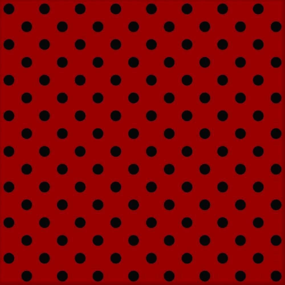 Poá grande vermelho com preto Ref.1554 cor 11 Peripan - Armarinhos Nodari