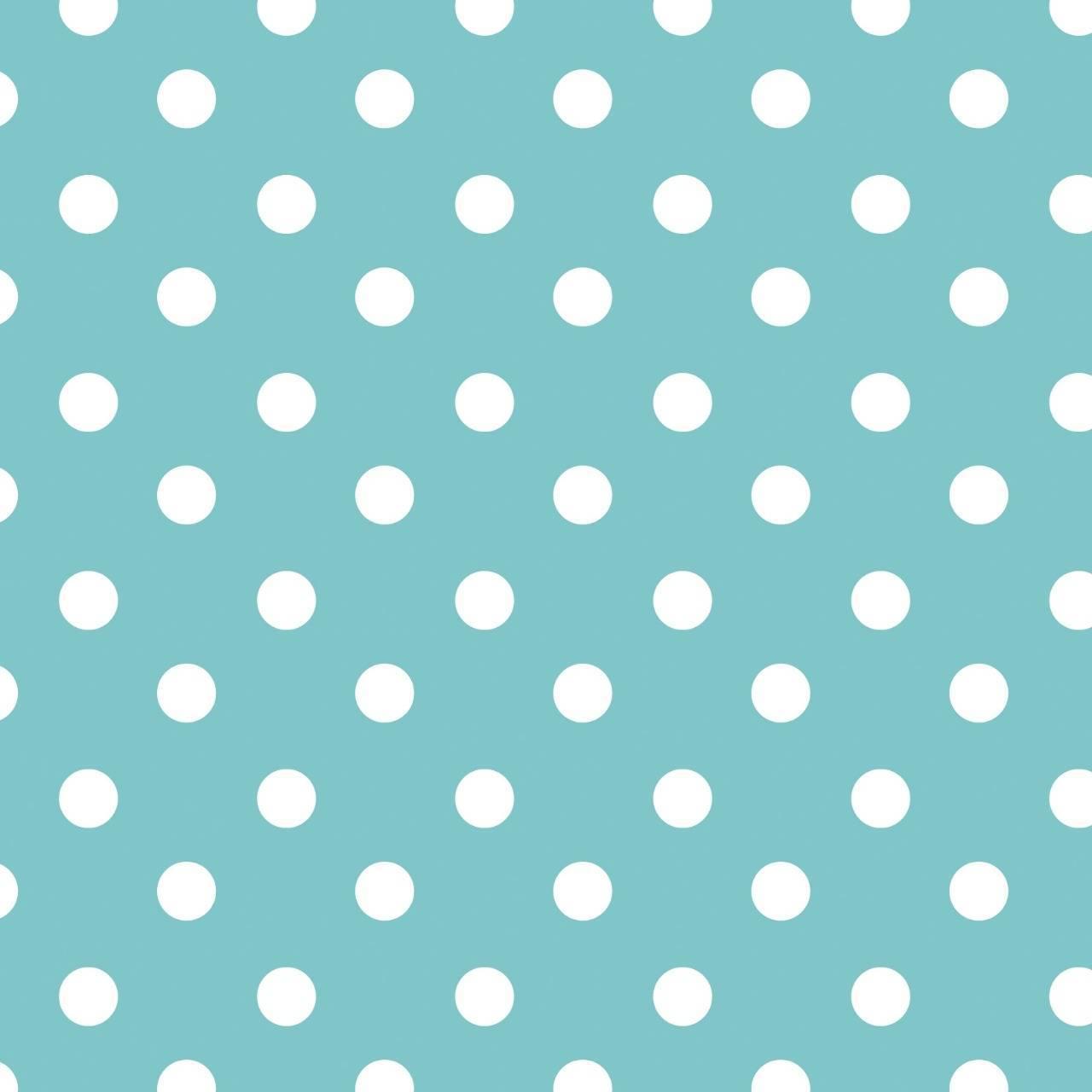 Feltro Mewi estampado poá azul Ref.F1097 - Armarinhos Nodari