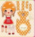 Boneca Maria dinamarquesa Ref. CB105 03 Claudia Barddal