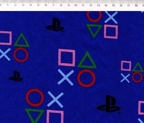 PlayStation Símbolos Fundo Azul Ref. PS001 Cor 01 Fernando Maluhy - Armarinhos Nodari