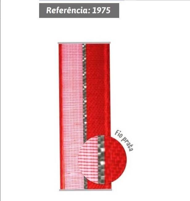 Fita de voil com fio prata nº3 com 10m Gitex Ref.1975 - Armarinhos Nodari