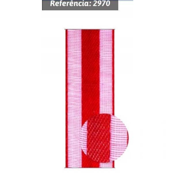 Fita de voil com cetim nº3 com 10m Gitex Ref.2970 - Armarinhos Nodari