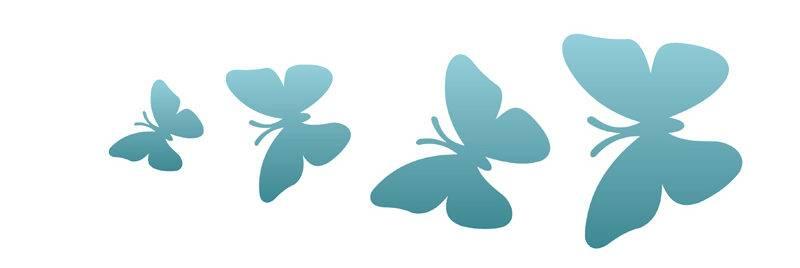 Stencil 10x30cm OPA borboletas Ref. OPA719 - Armarinhos Nodari