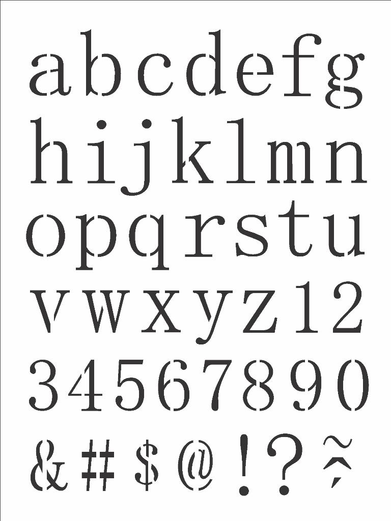 Stencil 15x20cm OPA alfabeto reto minusculo Ref. OPA2496 - Armarinhos Nodari