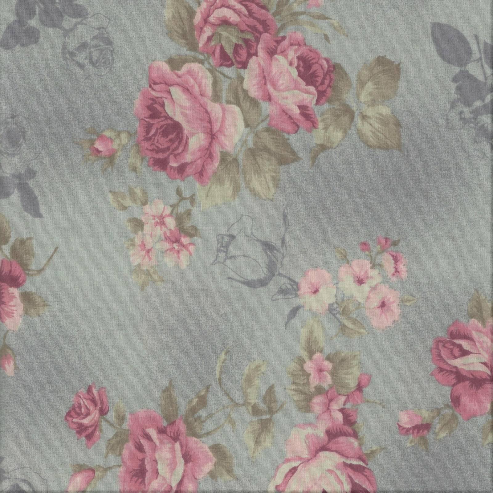 Rosas Com Textura Cor Cinza Ref. MV001 Cor 04 Fernando Maluhy - Armarinhos Nodari