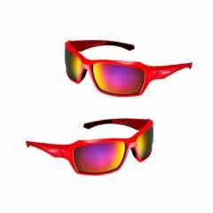 Óculos Shimano S22X Vermelho Lente Vermelha Espelhada