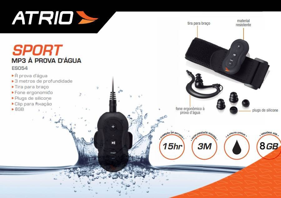MP3 Atrio Aquatico 8GB - BIKE ALLA CARTE