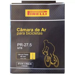 Câmara de Ar Pirelli Mtb Aro 27,5 Válvula Presta 48mm