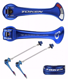 Blocagens Token Shark Tail Azul Par