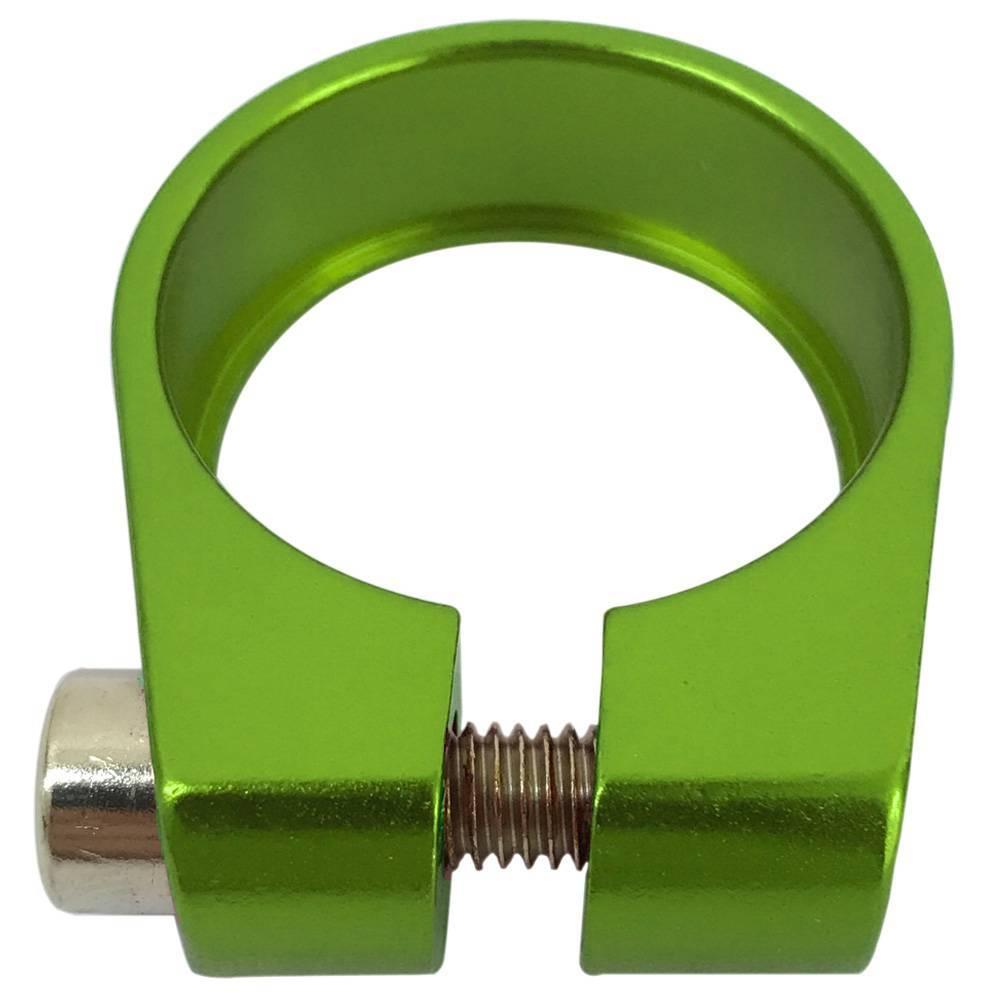 Braçadeira de Selim Cly 31.8mm Verde - BIKE ALLA CARTE