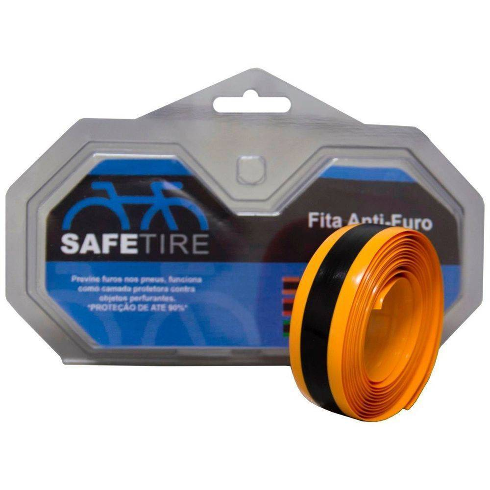 Fita Antifuros Safetire Speed 23mm Aro 700 - Laranja - BIKE ALLA CARTE