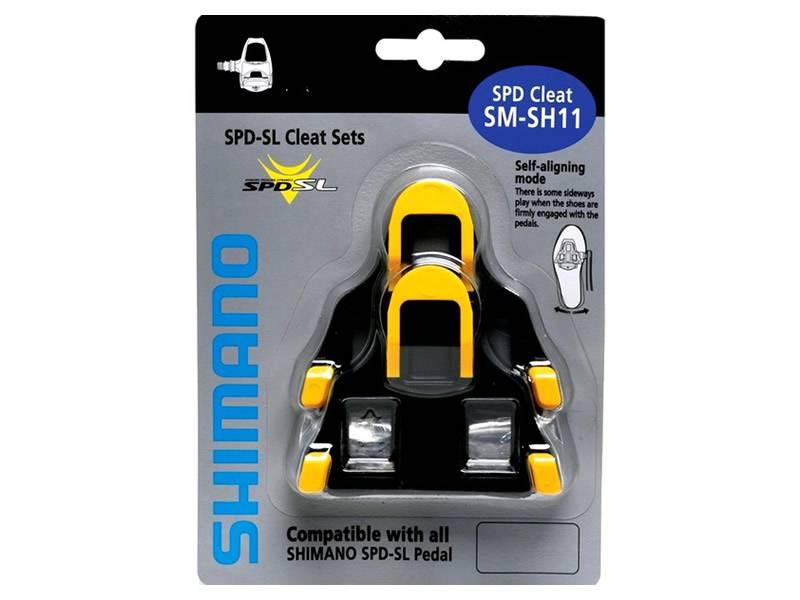 Taco Pedal Speed Shimano Flutuante Sm-Sh11 Amarelo  - BIKE ALLA CARTE