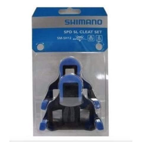 Taco Pedal Speed Shimano Flutuante Sm-Sh12 Azul - BIKE ALLA CARTE