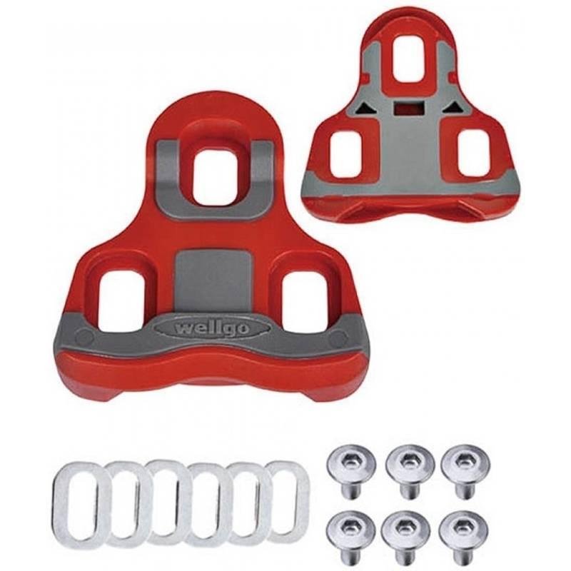 Taco Para Pedal Look Kéo - Wellgo RC7B Vermelho - BIKE ALLA CARTE