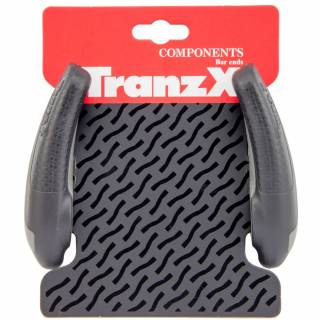 Bar End Tranzx Kraton Curvo Power Ergonomico