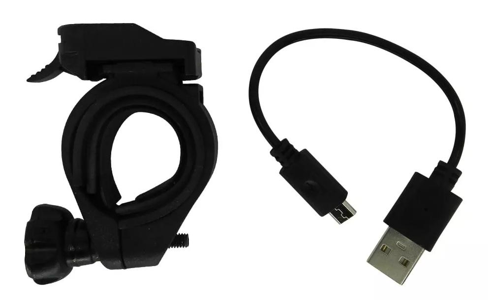 Farol High One Dianteiro Recarregável USB Led Preto - BIKE ALLA CARTE
