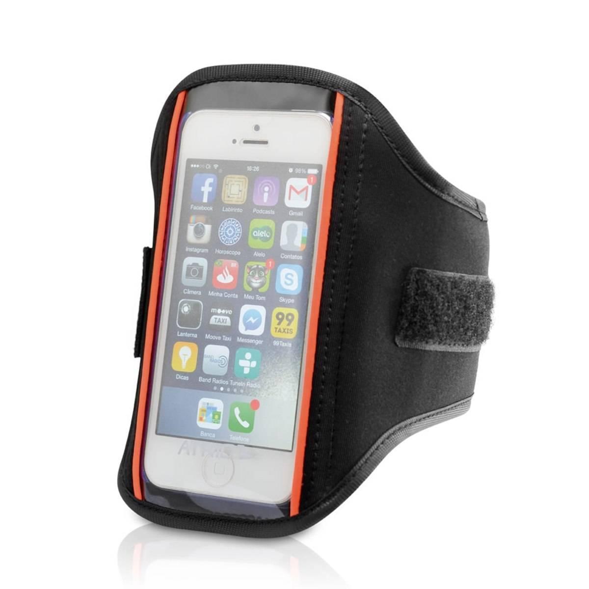 Braçadeira para Smartphone até 5.7 Polegadas Preto - Atrio - BIKE ALLA CARTE