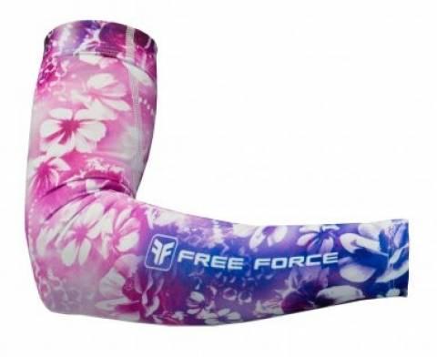 Manguito de Verão Free Force Flowers Rosa - Tam P, M e G - BIKE ALLA CARTE