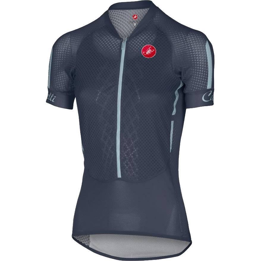 Camisa Castelli Feminina Climber Navy Azul - Tam M - BIKE ALLA CARTE