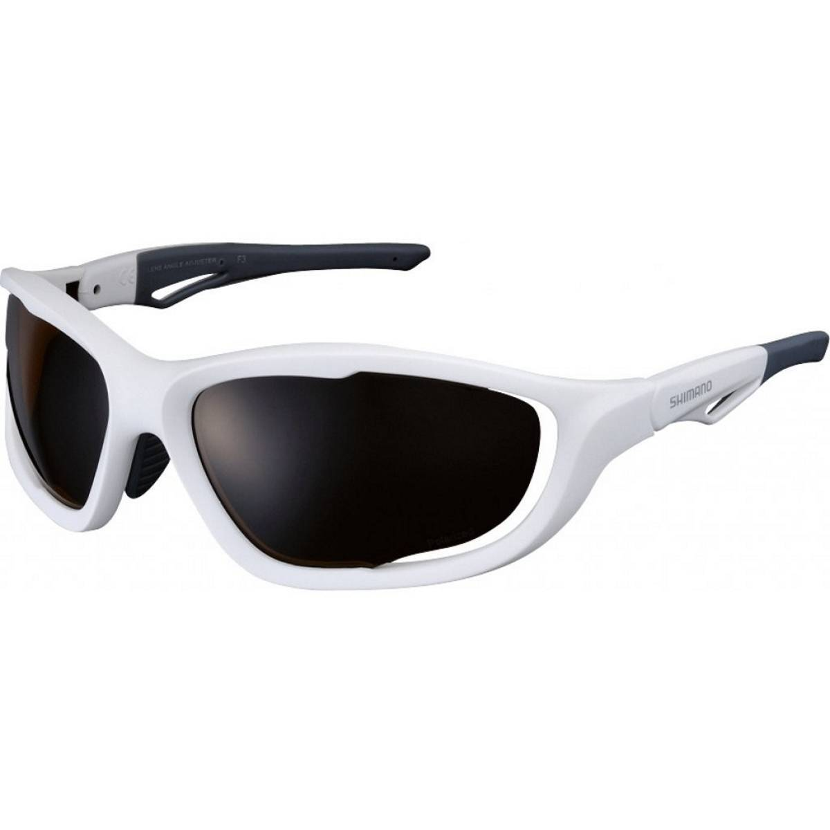 Óculos Shimano CE-S60X-PL Branco Fosco Lente Polarizada - BIKE ALLA CARTE
