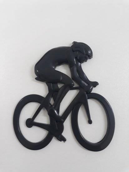 Emblema preto 3d Ictus Ciclista adesivo imantado p/ carro  - BIKE ALLA CARTE