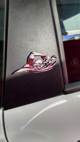 Emblema 3d Ictus Natação autoadesivo com imãs de neodímio CR - BIKE ALLA CARTE
