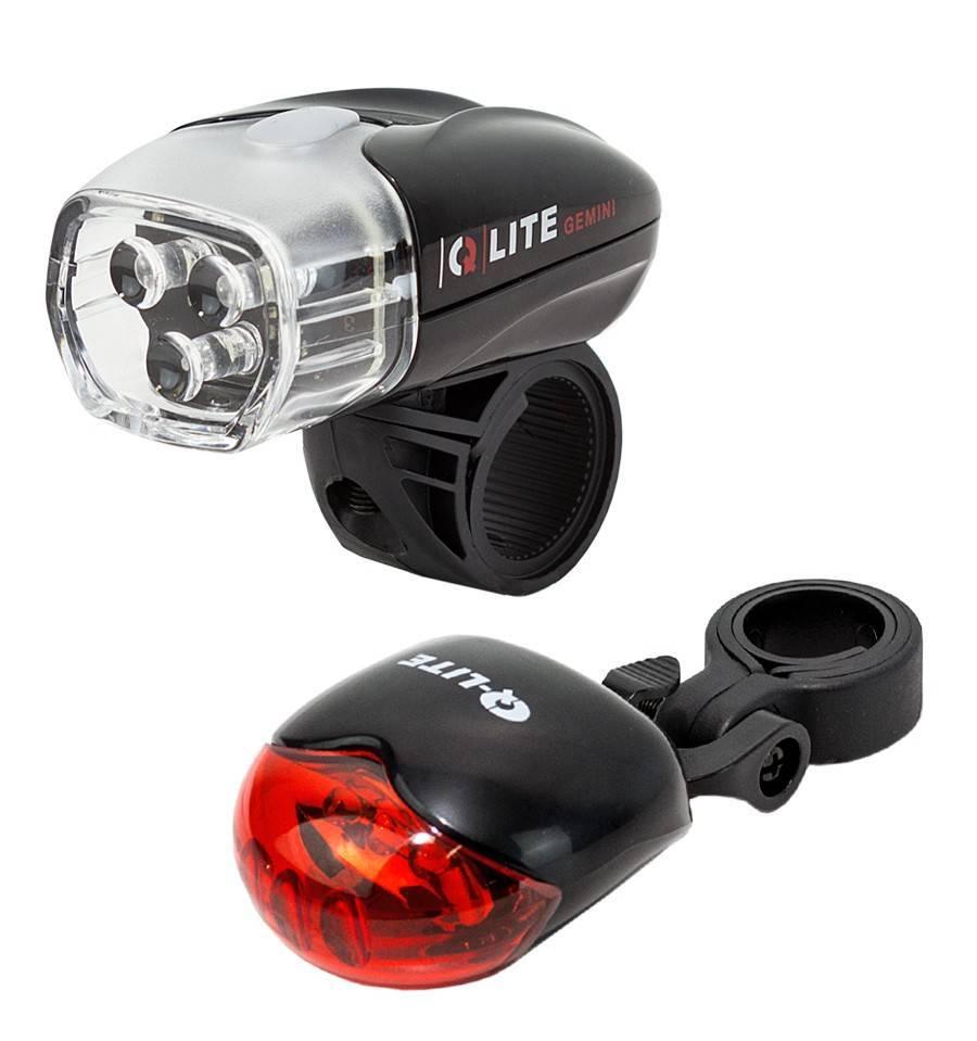 Farol Q-Lite QL-275W + Lanterna QL-201 R3 - BIKE ALLA CARTE