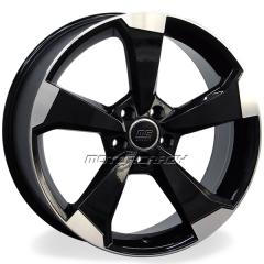 Jogo de rodas réplicas Audi RS3 2016 Preto 18x8 5x112 ET45