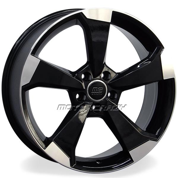 Jogo de rodas réplicas Audi RS3 2016 Preto 18x8 5x112 ET45 - ATS Pneus
