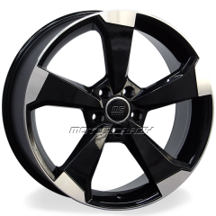 Jogo de rodas réplicas Audi RS3 2016 Preto 19x8 5x112 ET45