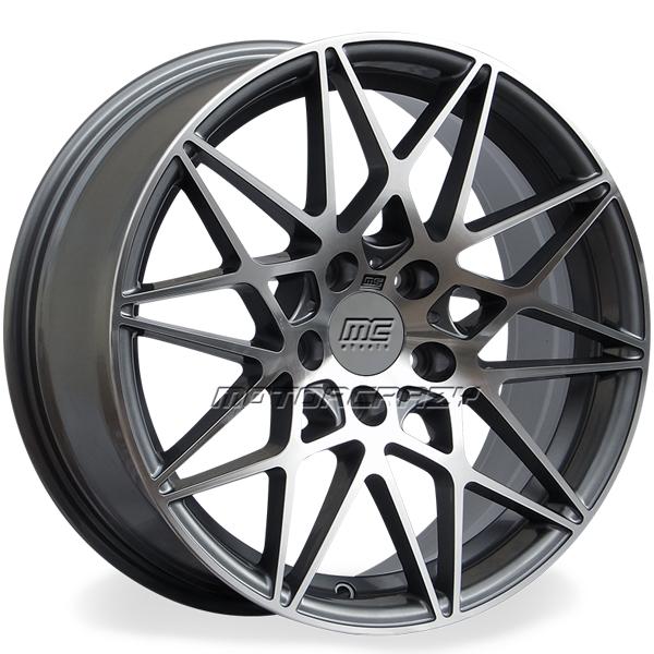 Jogo de rodas réplicas BMW M3 2016 Grafite 20x8,5 e 20x9,5 5x120 - ATS Pneus
