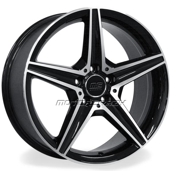 Jogo de rodas réplicas Mercedes C250 Sport Preto 17x8 5x112 ET45 - ATS Pneus