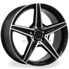 Jogo de rodas réplicas Mercedes C250 Sport Preto 18x8 e 18x8,5 5x112