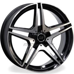 Jogo de rodas réplicas Mercedes C63S Coupe Preto 20x8 e 20x9 5x112