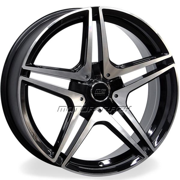 Jogo de rodas réplicas Mercedes C63S Coupe Preto 20x8 e 20x9 5x112 - ATS Pneus