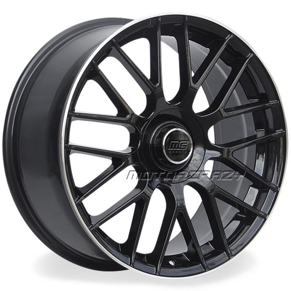 Jogo de rodas réplicas Mercedes C63 2015 Preto 20x8 e 20x9 5 - ATS Pneus