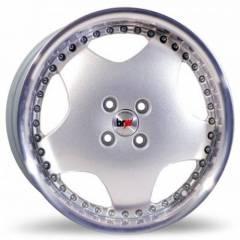 Jogo de Rodas BRW 1320 Prata Diamantada 17x7 4x100