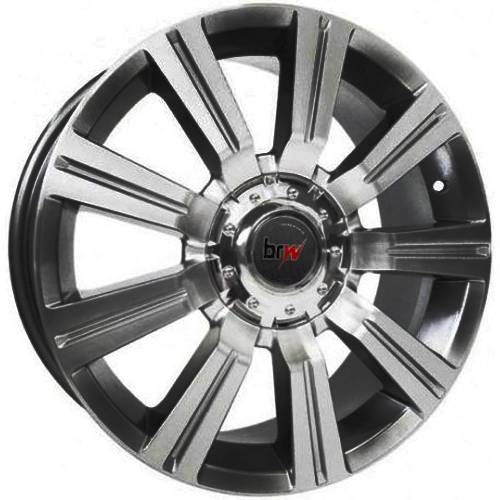 Jogo de Rodas BRW 600 Chrome Black Diamond 14x6 4x100 e 4x10 - ATS Pneus