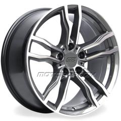 Jogo de rodas réplicas BMW X6M Grafite 22x10 e 22x11 5x120