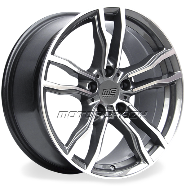 Jogo de rodas réplicas BMW X6M Grafite 22x10 e 22x11 5x120 - ATS Pneus