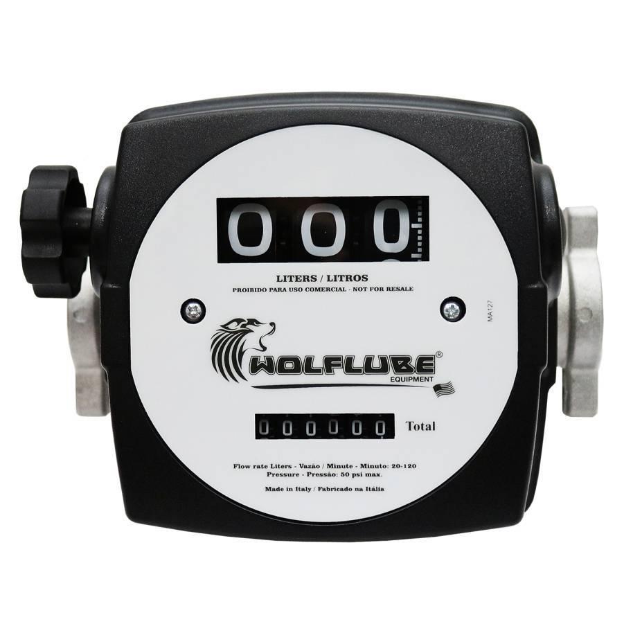 Medidor de vazão Mecânico para Diesel 3 dígitos 120Lpm Lupus - CASA DO FRENTISTA