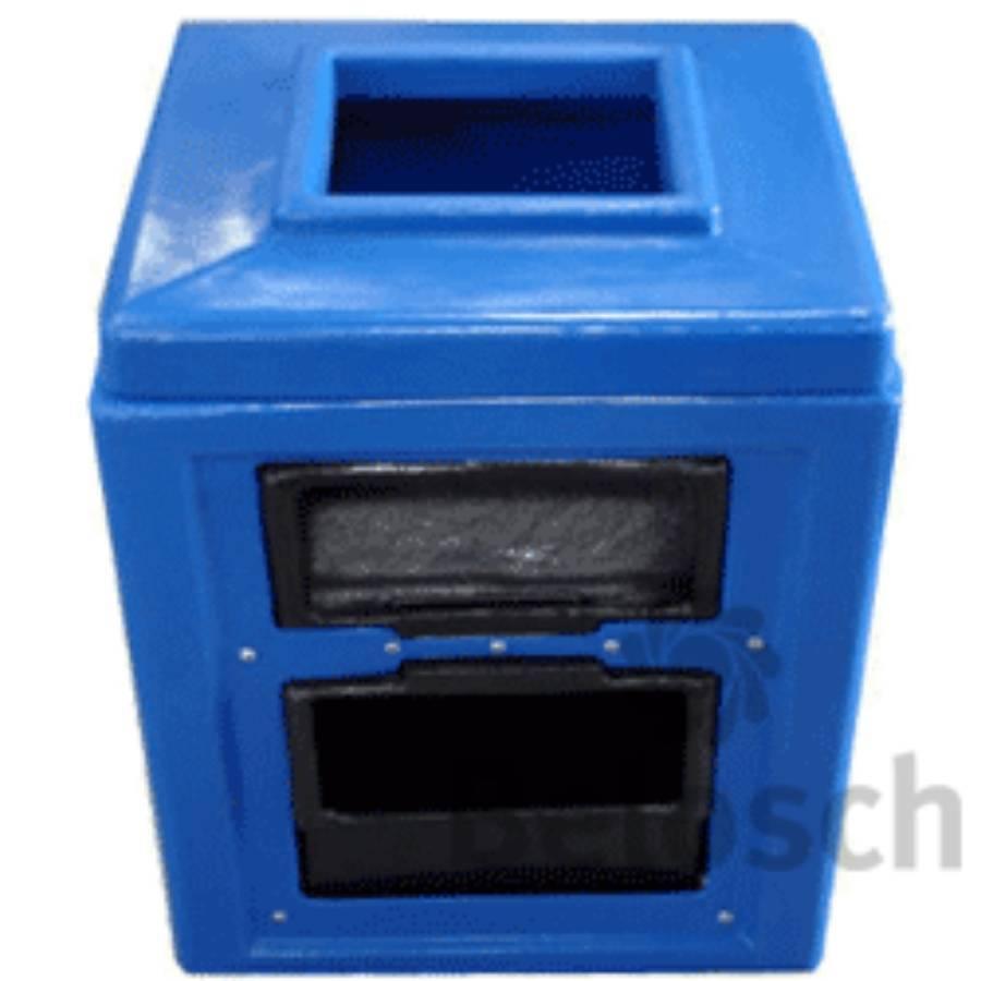 Lixeira Quadrada 140L para Postos de Combustível - CASA DO FRENTISTA