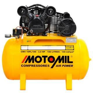 Compressor de ar 10 pés 100 Litros 2HP 140lbs 110/220V