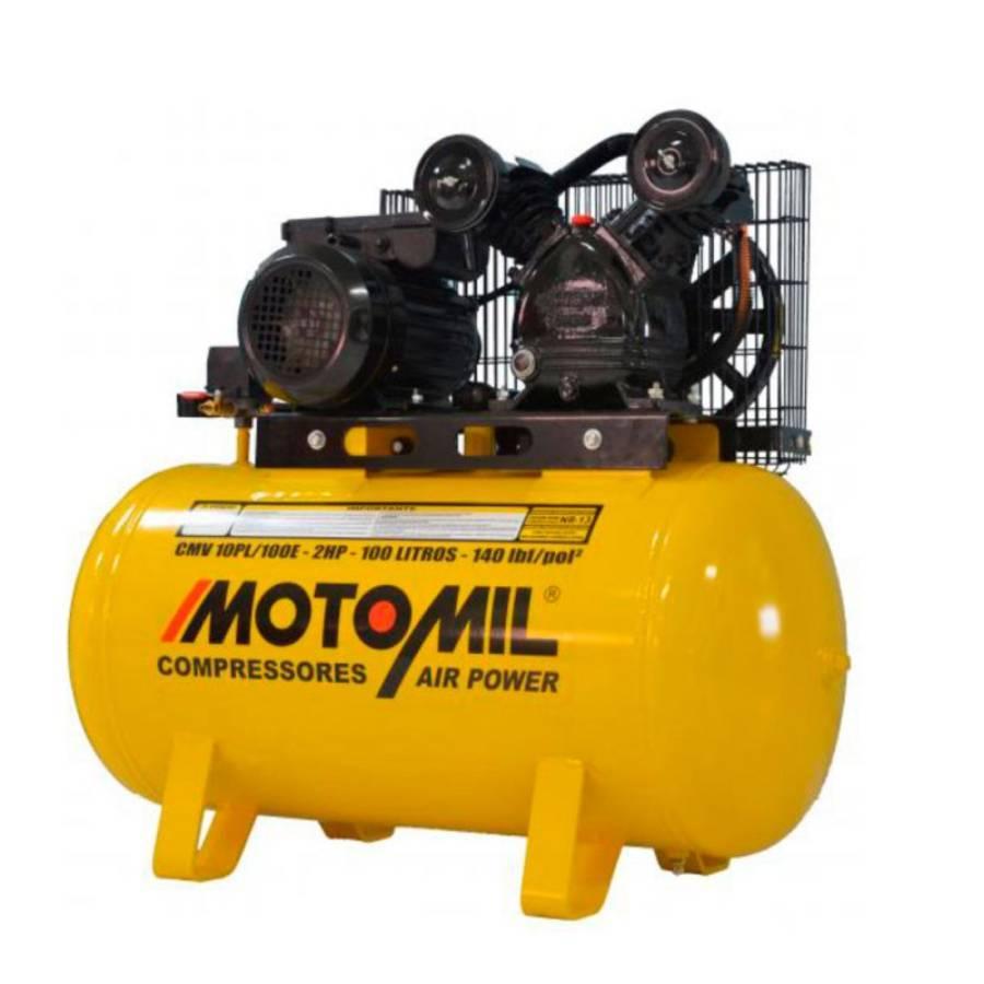 Compressor de ar 10 pés 100L 2HP 140lbs 110/220V - CASA DO FRENTISTA