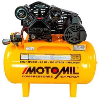 Compressor de ar 15 pés 150 Litros 3HP 140lbs 110/220V