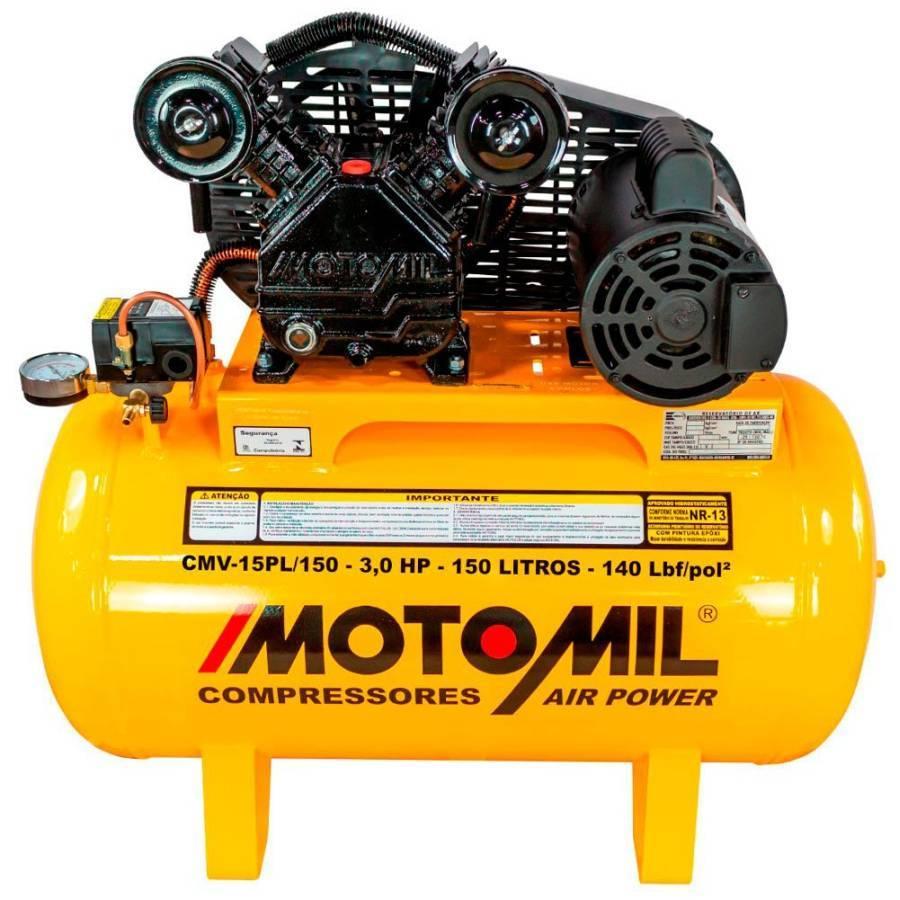 Compressor de ar 15 pés 150 Litros 3HP 140lbs 110/220V - CASA DO FRENTISTA