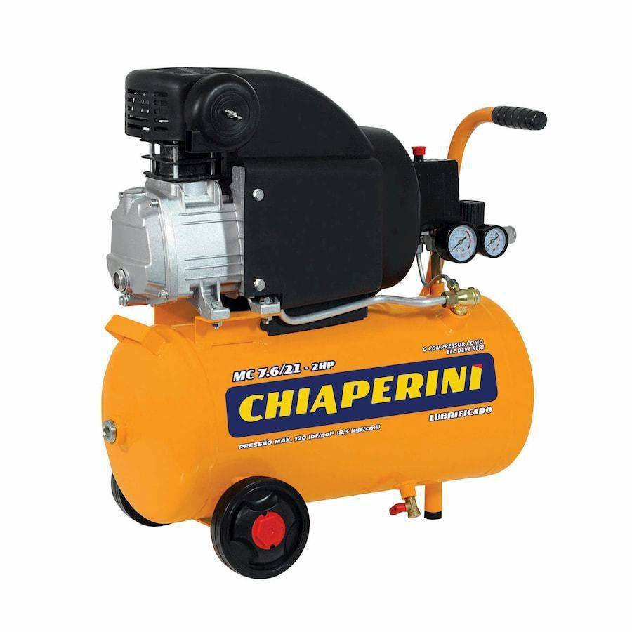 Compressor de Ar Chiaperini 7,6 Pés 21L 2HP Monofásico - CASA DO FRENTISTA