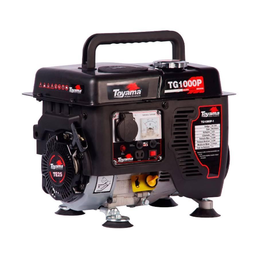 Gerador de Energia à Gasolina 900W 220V Toyama TG1000P - CASA DO FRENTISTA